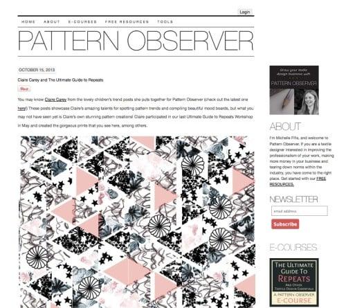 jellystreet feature on pattern observer